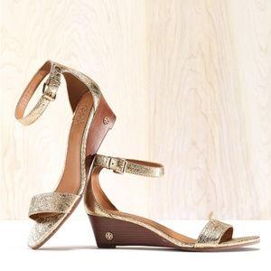 🆕Tory Burch Savannah Wedge Sandal Ankle Strap